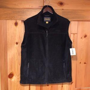 New CABELA'S Fleece Zip Vest Jacket LT Large Tall